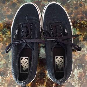 Vans Black with slight sparkle. Size 8.5